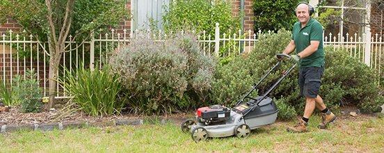 A Fantastic Gardener mowing a lawn in Sydney